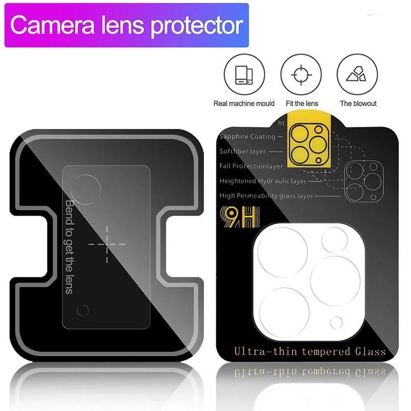 Para iPhone 12 Back Camera Lens Protector para Samsung S21 Vidro Temperado Custo Cleado Clear Filme sem Pacote