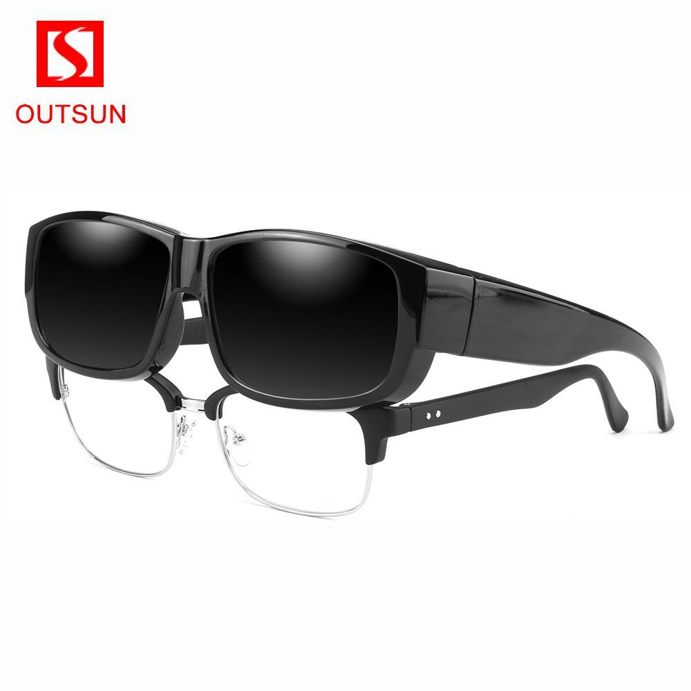 OUTSUN 2020 NEW DESIGN Унисекс поляризованных F более темные очки мужчины старше Предписания очки покрытия Rx Insert sunglasses145 1007 1007