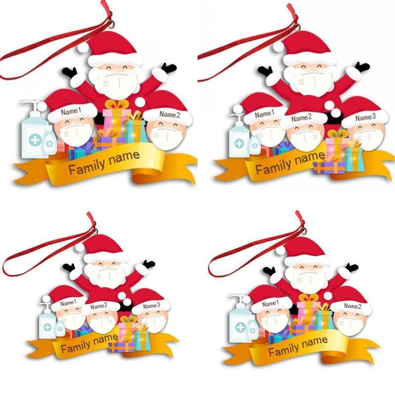 2020 Hanehalkı Christmases Serisi Süsleri Yüz Üç Altı Kişi Modeli Noel ağacı Süsleme DIY 7SL J2 Maske