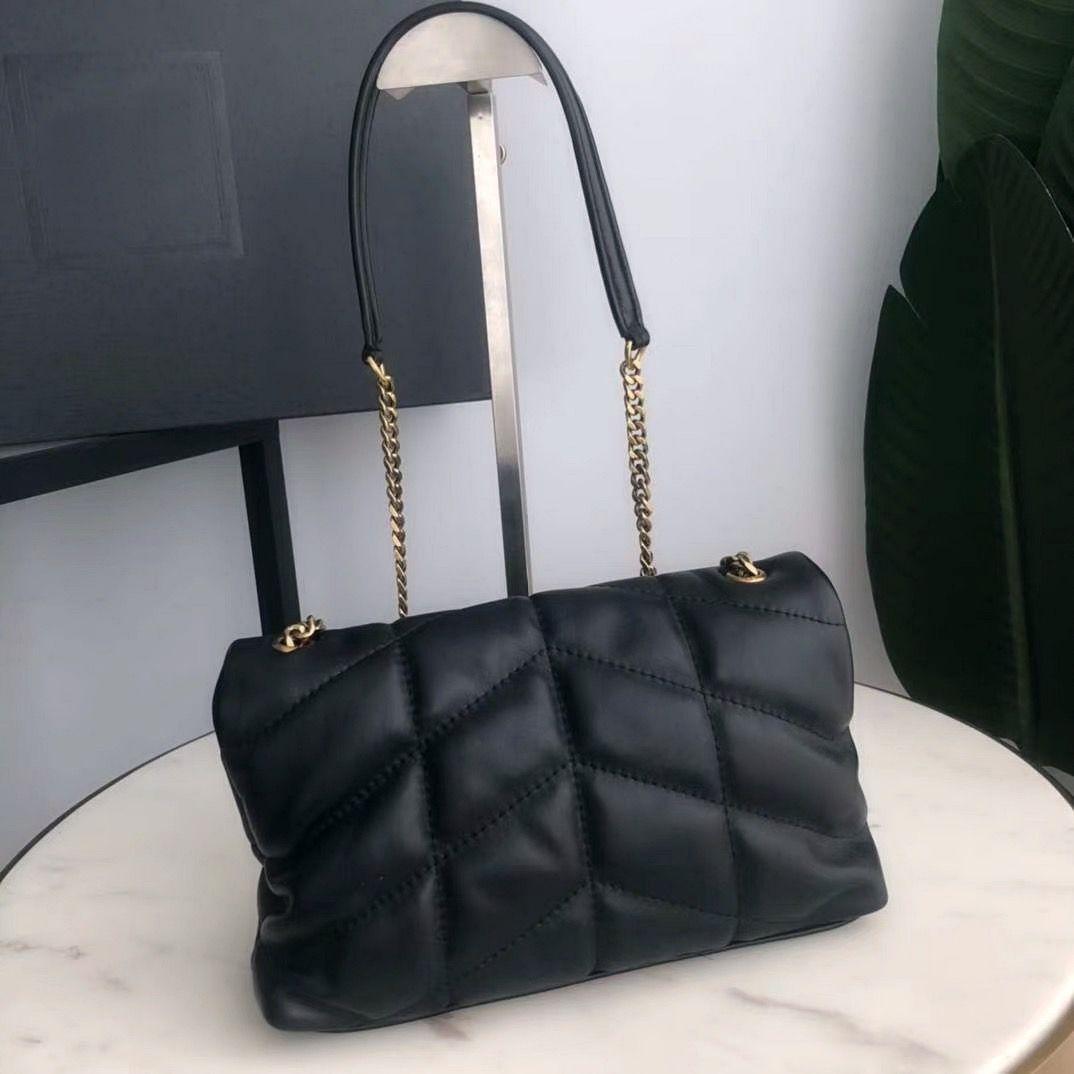Genuine Chain Sheep Chain Crossbody Bag Shoulder Bag For Bags Fashion Purse Messenger Lady Handbags Handbag Leather Leather Chains Wklnw