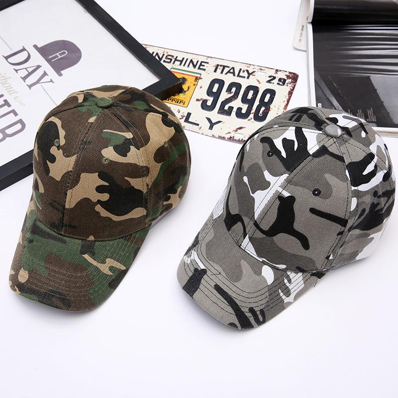 Camuflagem Boné Boné Chapéu Exército Chapéus Ajustável Bolas Strapback Mens Domens Tático Esporte Sun Hat