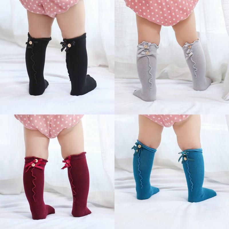 Дети сплошные цвета носки детские летние лук деревянные ушные кружевные детские носки мягкие младенческие повседневные носки 392 J2