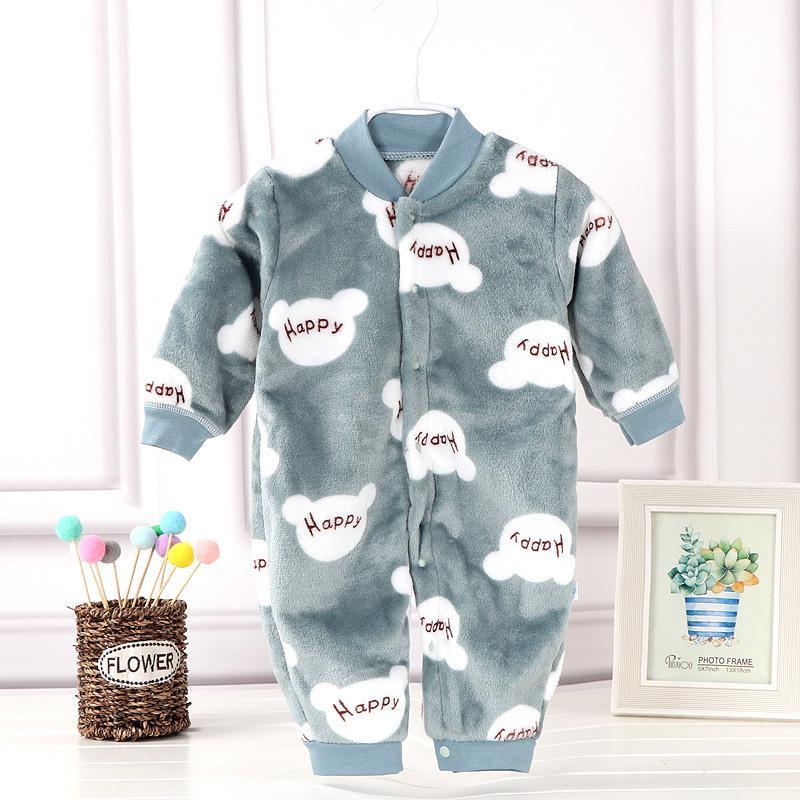 Hiver Nouveau-né Romper Costume Dessins Garçons Filles Vêtements molleton chaud animal ensemble bébé barboteuses Jumpsuit