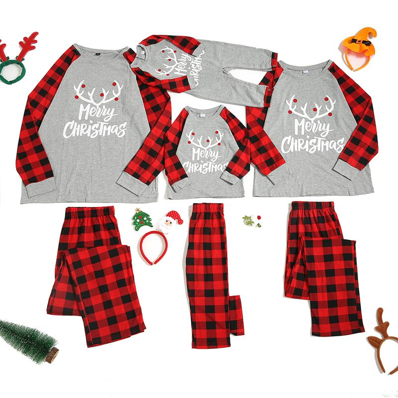 Família de Natal Pijamas Set Clothes Natal Pai-filho terno Início Pijamas New Baby Kid Dad mãe Matching Família Conjuntos LJ201110