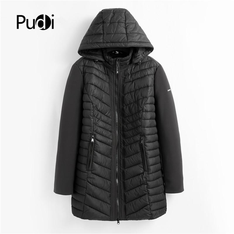 PUDI QY902 women cotton Parka winter woman long casual jacket solid color hooded coats and jackets spring autumn warm outwear 200930