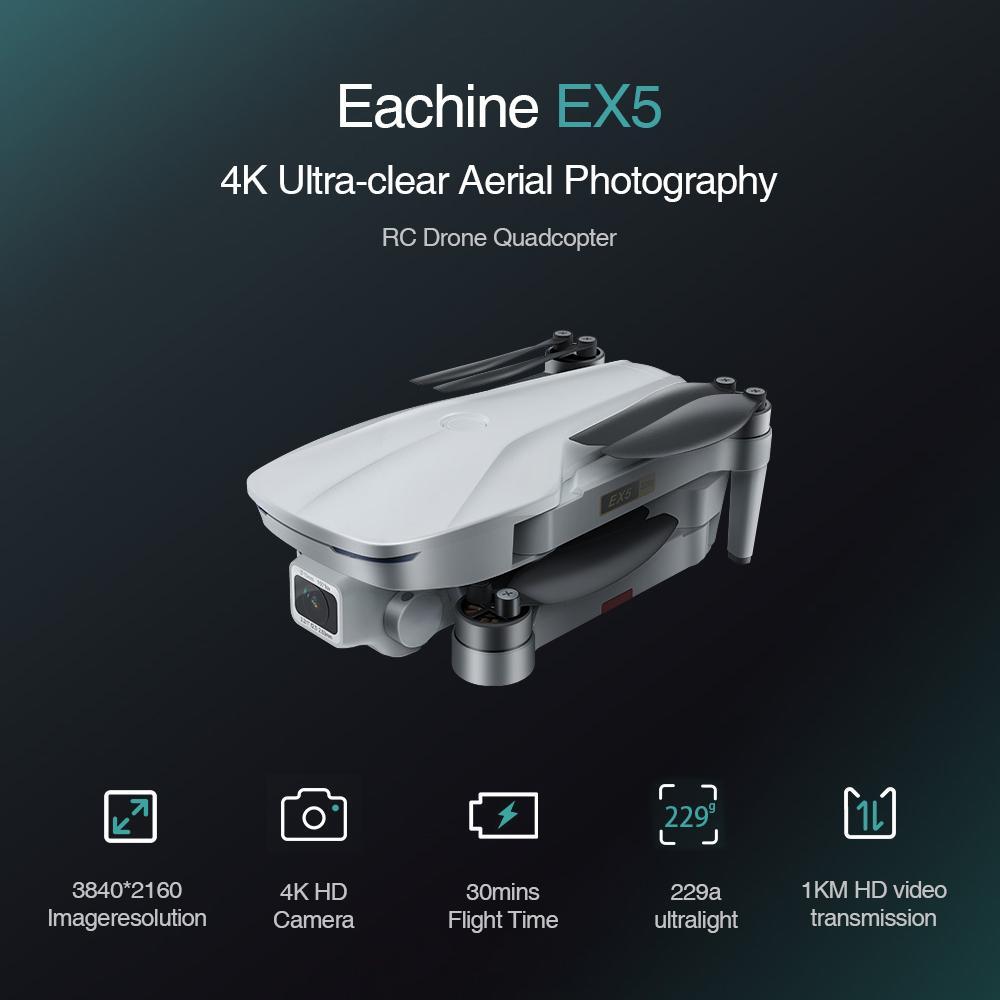 CADA EX5 RC Quadcopter Drone Helicóptero 4K GPS HD Mini Câmera Profissional com GPS 1000 200 metros 5G WiFi FPV Racing Toys