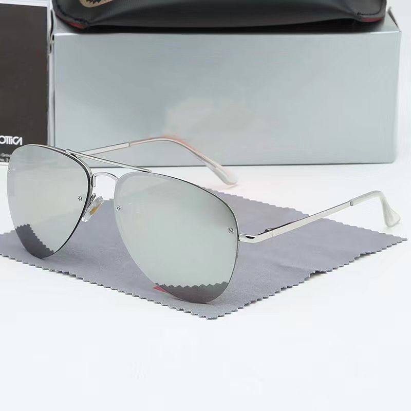2020 Moda Ray Sunglasses Vintage Piloto Marca Banda UV400 Proteção Mens Mulher Designer de Mulher Out Ciclismo Moda Sol óculos com Caso 3172