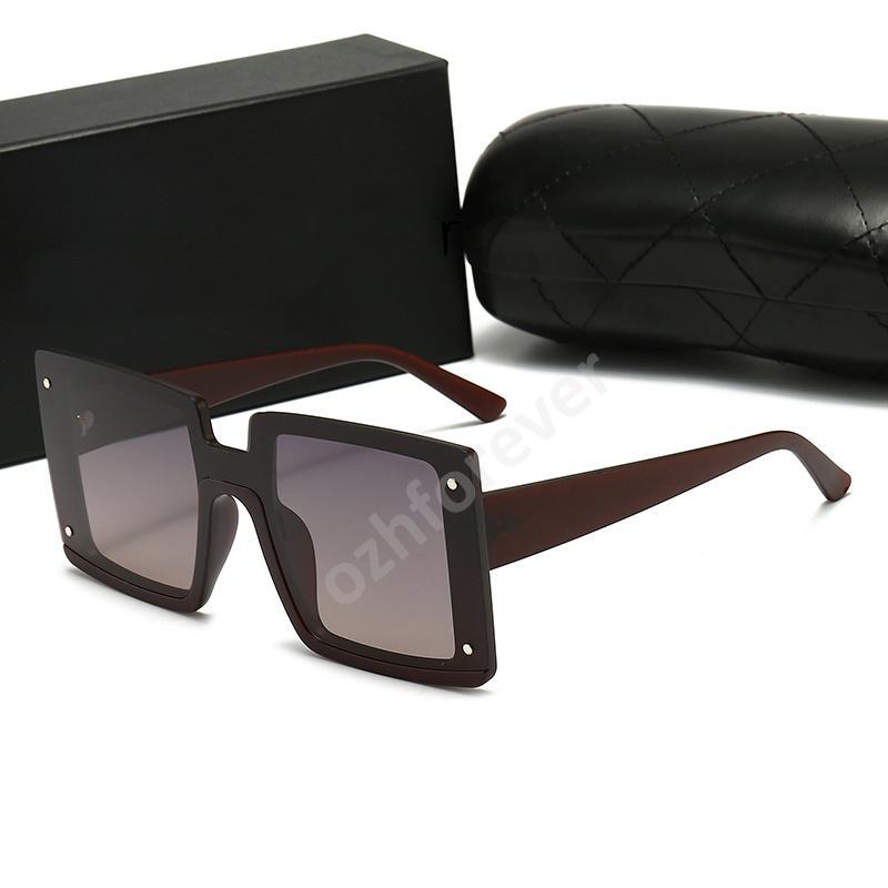 CHANEL Солнцезащитные очки Полная рамка Винтаж Дизайнер Солнцезащитные Очки Для Мужчины Блестящие Золотые Логотип Горячие Продают Позолоченные Топ W2