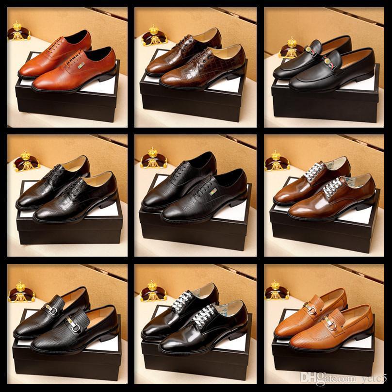 C5 Italiano Designer di Prestigio Scarpe da uomo Dress Shoes Leather Office Elegante uomo di lusso Oxford Scarpe Calzado Hombre Sapato Social Masculino 11