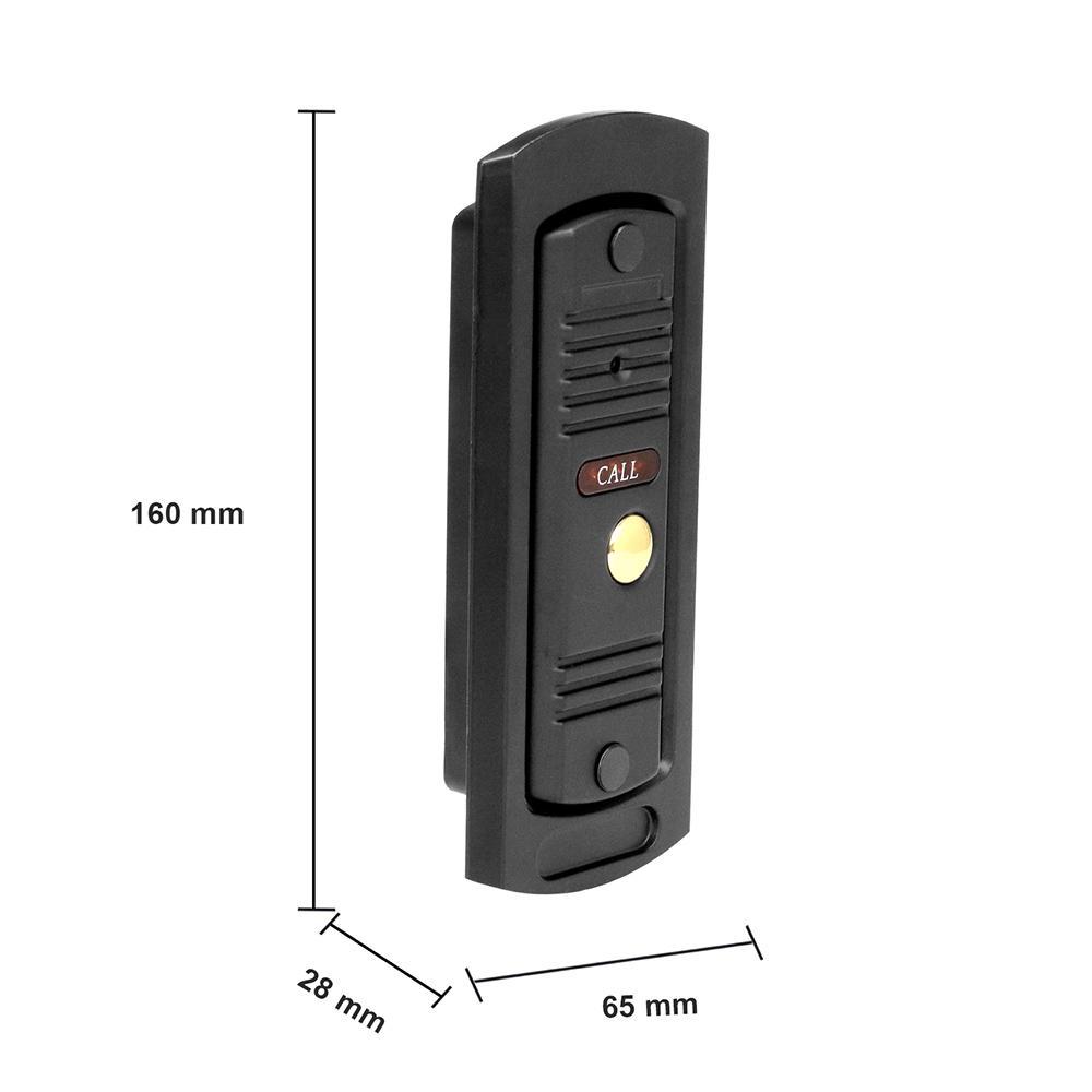 Freeshipping Video Tür Haus Intercom Video-Türsprechanlage 7 Zoll-Monitor 1200TVL Klingel-Kamera-32G Speicherkarte Video Intercom Kit