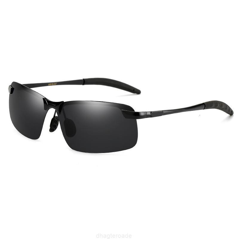 NUOVO 3043 Colore maschile Cambiare la visione notturna Frameless Driving Glasses Moda Guida di Sunglasses