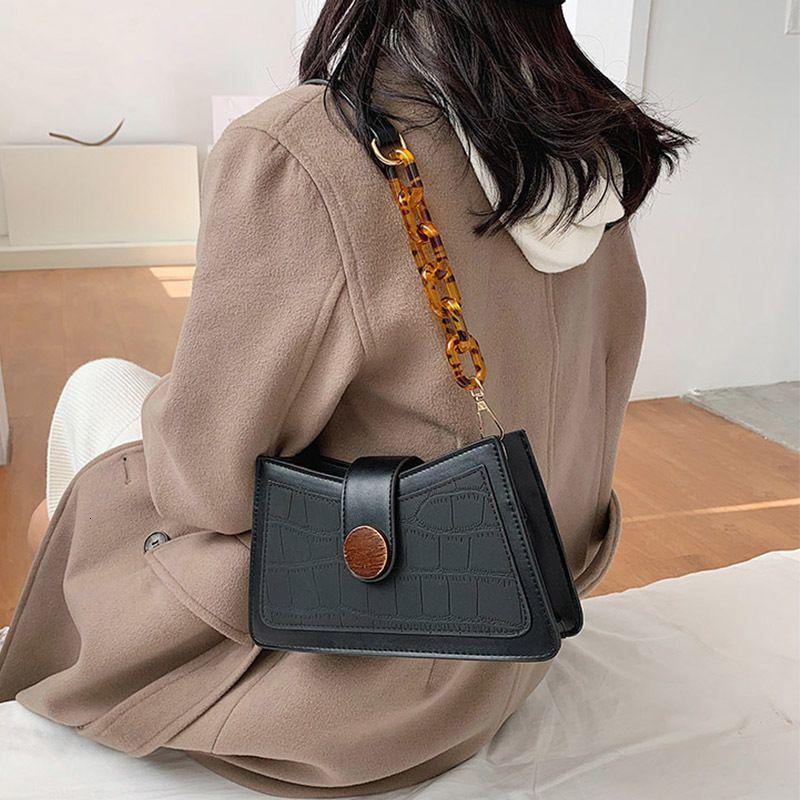 New Fashion 2020 um ombro axila Saco cor sólida Couro Telefone de geada Mulheres pequeno pacote C383