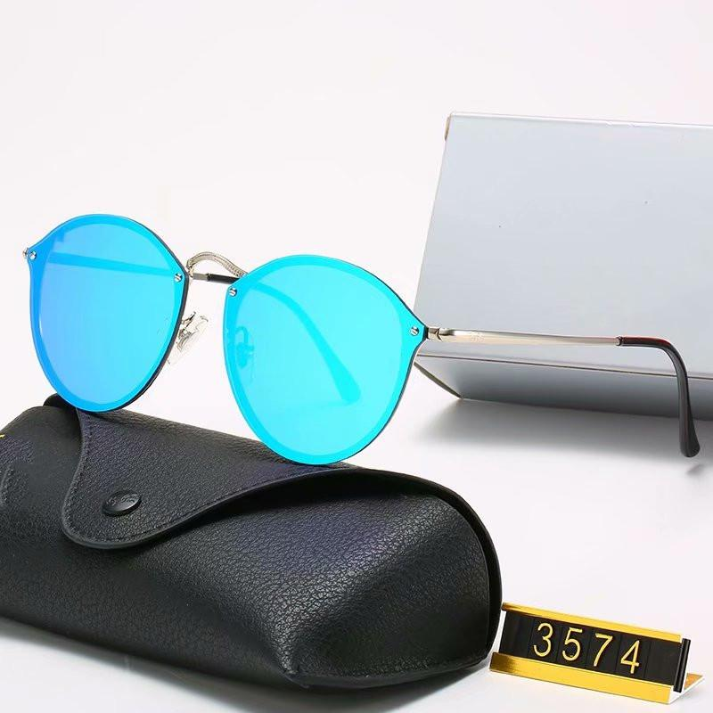 Driving Brand Design Classic Round Polarized Eyewear Metal Gold Frame Glasses Men Women Mirror Sunglasses Polaroid Glass Lens Er6