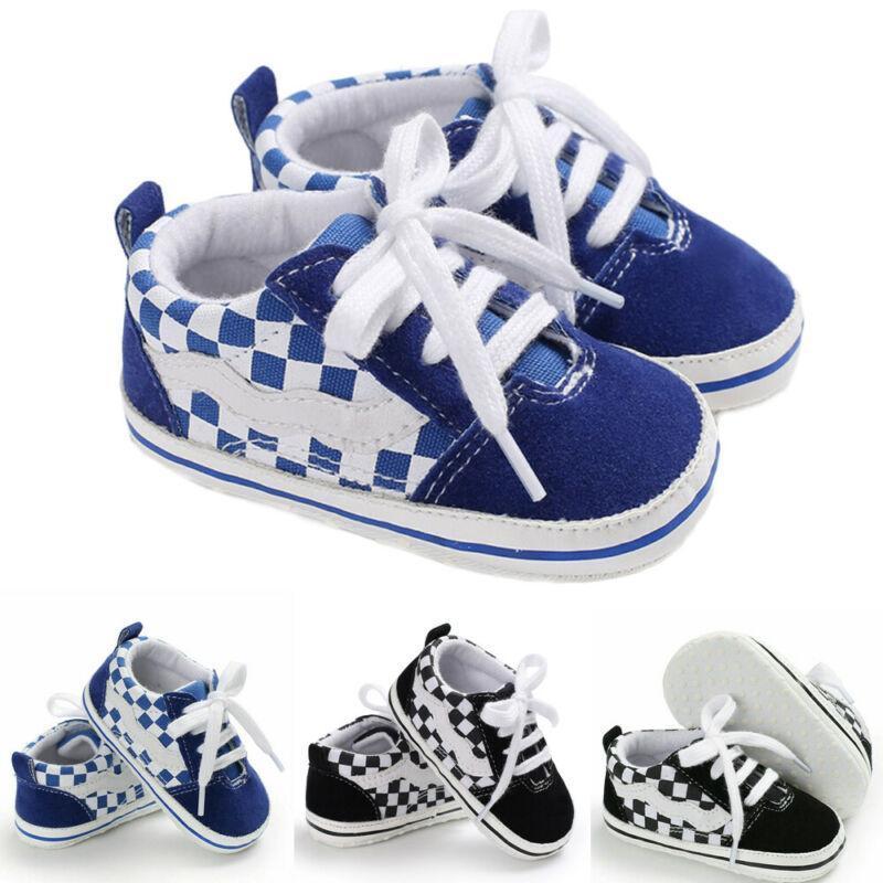 جديد قماش كلاسيكي الرياضة رياضية الوليد الطفل بنين بنات أول مشوا أحذية الرضع طفل لينة وحيد مضاد للانزلاق الطفل