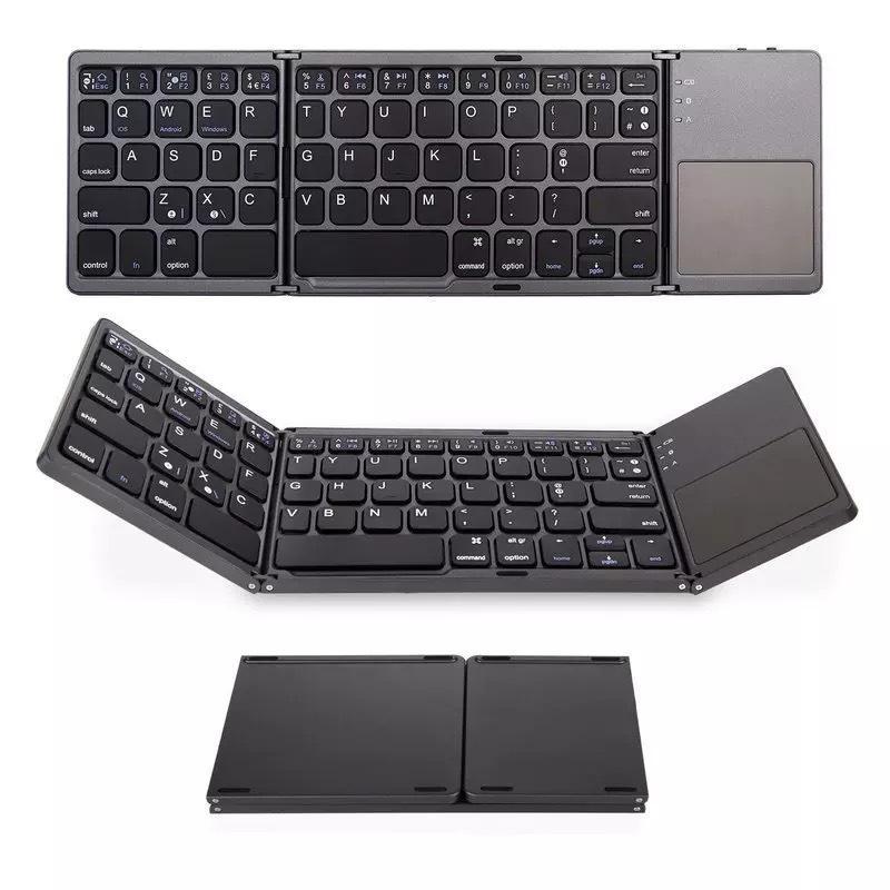 Kablosuz bluetooth üçlü katlanır klavye, bilgisayar ofis ultra ince taşınabilir klavye, destekleyen üç s klavye ofis ev ücretsiz gönderim