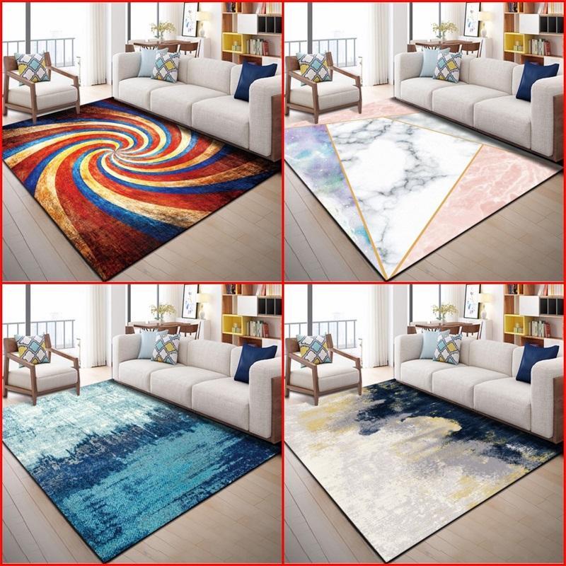 Moderna Simplicidad Alfombra Geométrica impresa Retro Rectángulo Sofá Sofá Dormitorio Dormitorio DIY Tapete 28 8WN4 K2