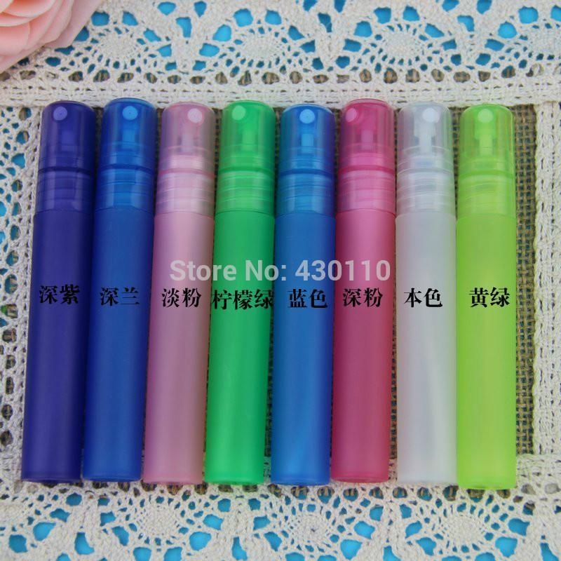 2019 nuovo arrivo 8 colori colore della caramella 8ml Mini bottiglia di profumo di plastica spruzzatore 50pcs / lot