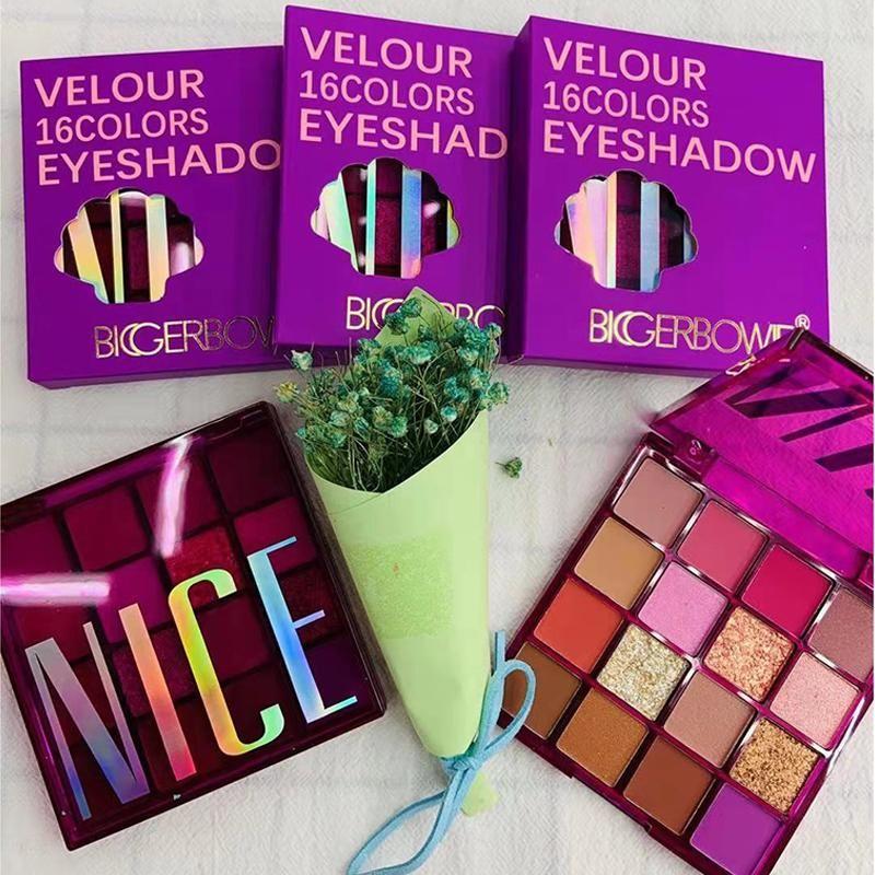 Yeni Varış 16 Renkler Turuncu Mor Göz Farı Pallete Neon Göz Farı Su Geçirmez Glitter Göz Farı Makyaj Pallete Yüksek Pigment