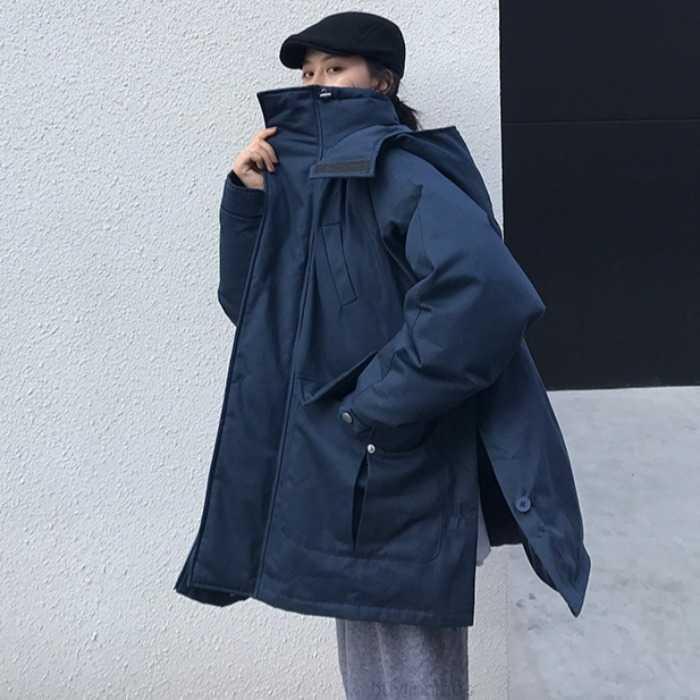 Куртка 2020 Зима Новый Пальто Корейский Свободные Хлопковая мягкая одежда Негабаритные Женские Моды