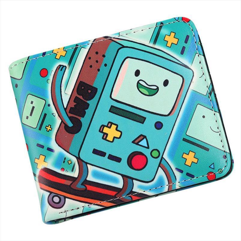 Carteira Cartão de Caixa Moeda BMO Tempo Dobra Carteira Mens Crédito Adventure Adventure Purse ID BI Desenhos animados Iorvw