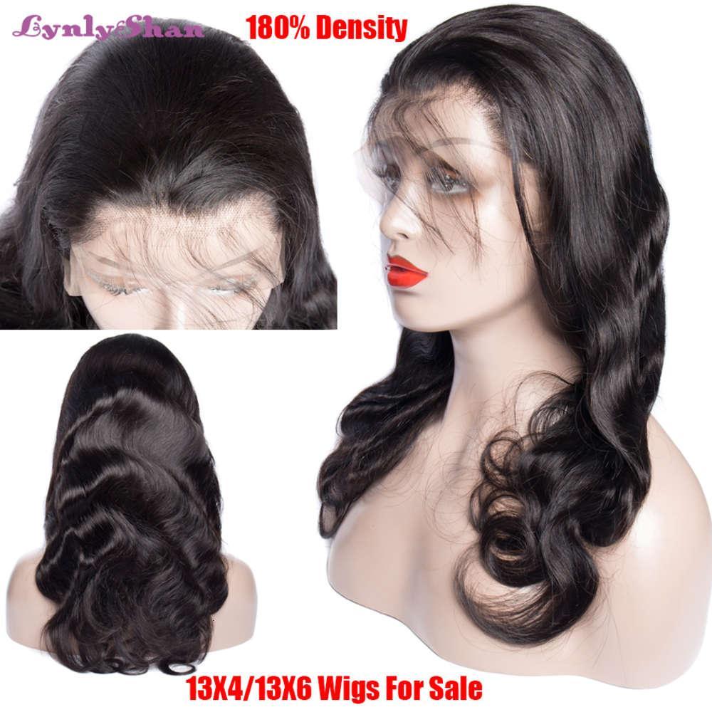 Body Wave HD 13x6 Peluca humana Brasileño Remy Hair 150% 180% Densidad Color natural Transparente Lameras delanteras