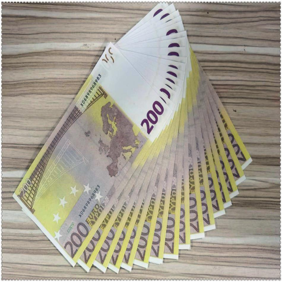 Simulation paper currency 200 eurosss cross-border direct selling birthday party paper currency hot-selling simulation cross-border products