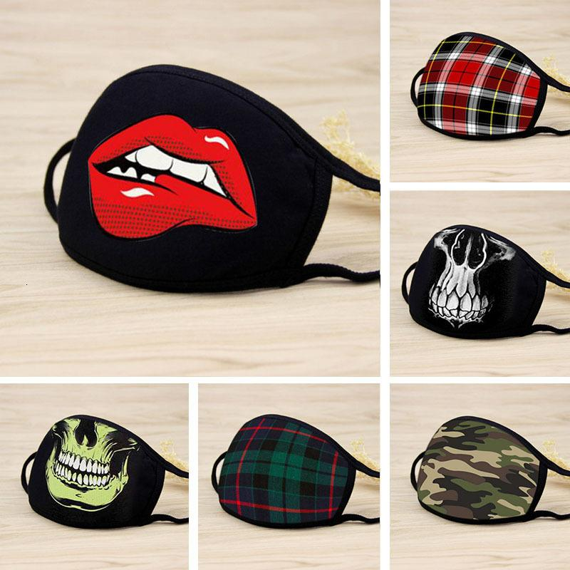 Skull free DHL stay home Black Fashion Party designer luxury Adult face mask women men washable Reusable Dust Windproof protect Cotton Masks