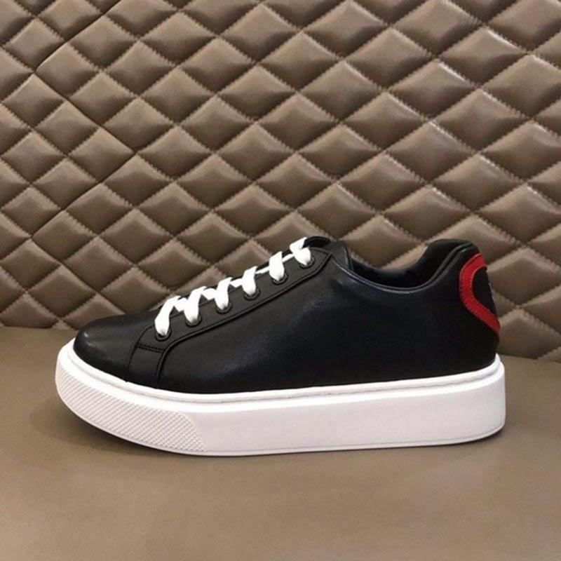 Prada shoes 2021 Hommes Blanc Noir Plate-forme Baskets Top Baskets Baskets Cuisson Casual Chaussures Casual Mode Taille Taille 38-45