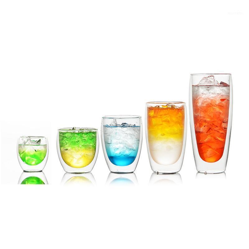 Кружки Продажа двойной стены Стеклянная чашка Дания Бодм Павина Дизайн Gilmore Gills Cockail Wine Tumbler Холодный напиток Сок Кофе кружка1