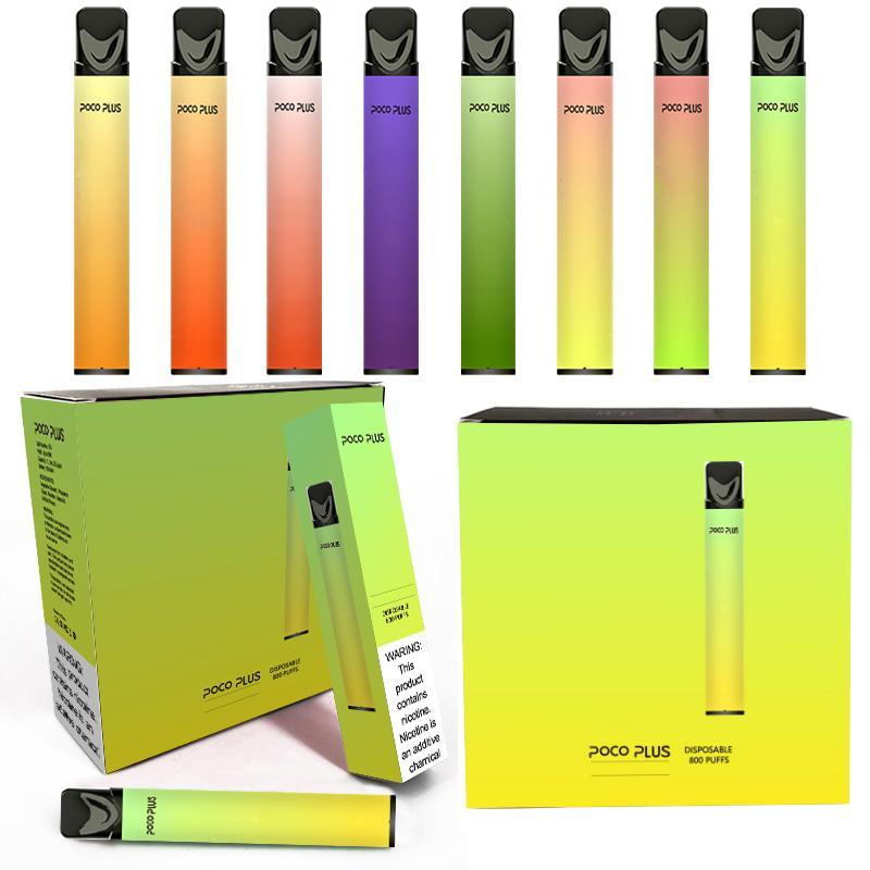 Authentic POPO plus Disposable Vape 800Puffs 550mAh Battery 3.2ml Pods Cartridges E Cigarettes Portable Vaporizer VS puff xxl plus air bar