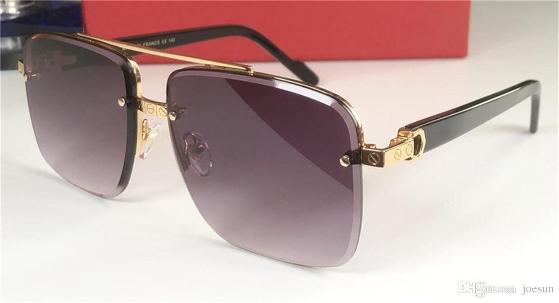 Nuovo disegno di modo occhiali da sole stile UV 400 occhiali di protezione più venduti 8.200.981 metallo metà cornice taglio quadrato superiore qualità delle lenti