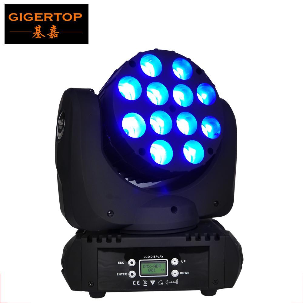 Precio barato Cabeza etapa, mini móvil del punto, 12x12W LED móvil de la viga de luz Cree llevó de China Etapa de iluminación LED
