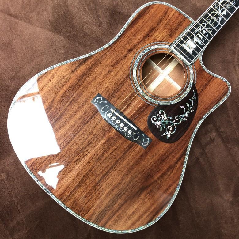 6 corda per chitarra acustica in legno KOA, Guitarra acustica,