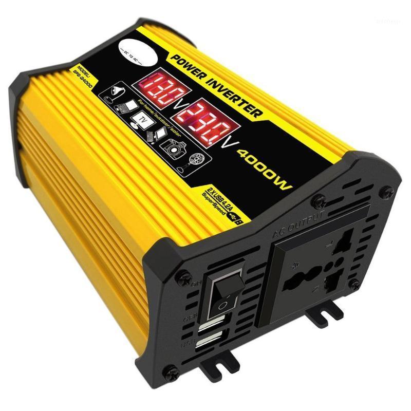 4000W 12V to 220V/110V LED Display Car Power Inverter Converter Adapter Dual USB Voltage Transformer Modified Sine Wave1