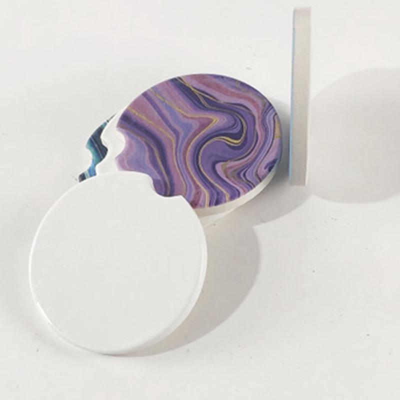 Sublimazione Blank Blank Ceramics Coasters 6.6 * 6.6cm Trasferimento a caldo Stampa montagne russe Blank Materiali materiali di fabbrica Prezzo di fabbrica EA2086-1
