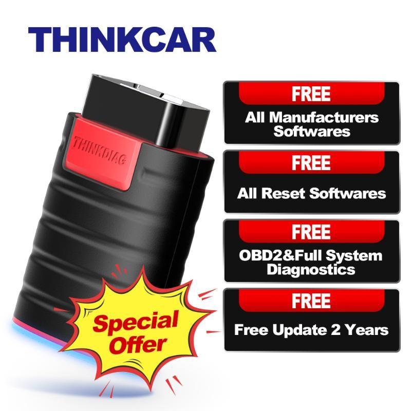 THINKCAR ThinkDiag OBD2 OBD 2 lettore di codice Tutte le auto diagnostica di sistema 15 Ripristino Pensate Diag PK X431 Easydiag 3.0 AP200 Golo