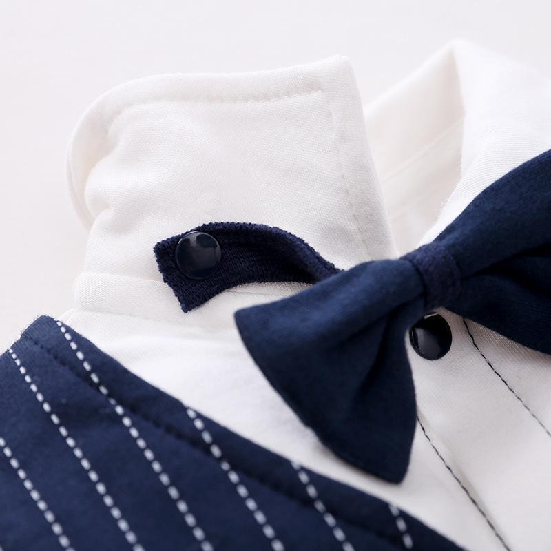 Commercio estero Boy tuta del bambino primavera e l'autunno Gentleman vestito pieno Luna Newborn pagliaccetto vestiti del bambino