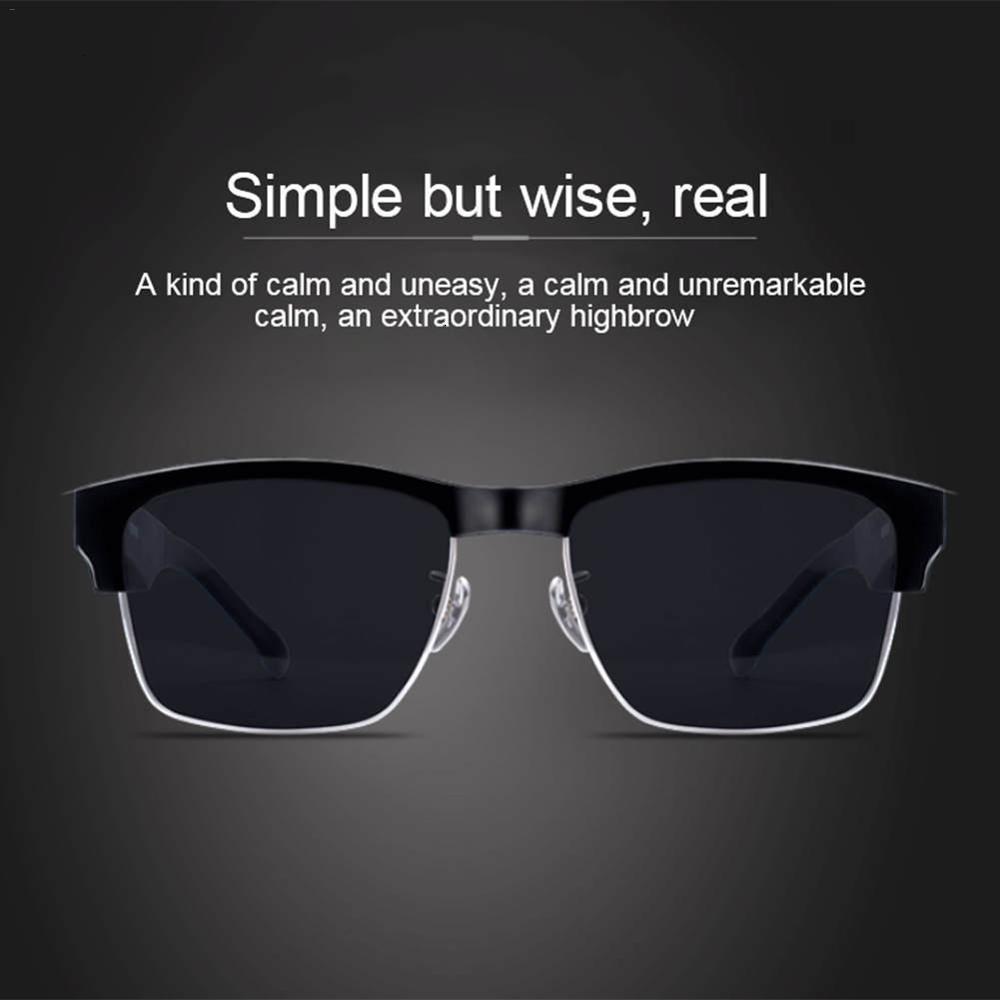 5,0 extérieure Bluetooth Smart lunettes sans fil Sport Casque avec lunettes anti-Blue Microphone