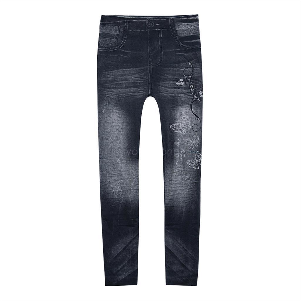 Slim Preto Leggings Mangueira Jeans Leggings Jeggings Treggings Seamless Mulheres Lápis Calças Jeans Calças fêmeas