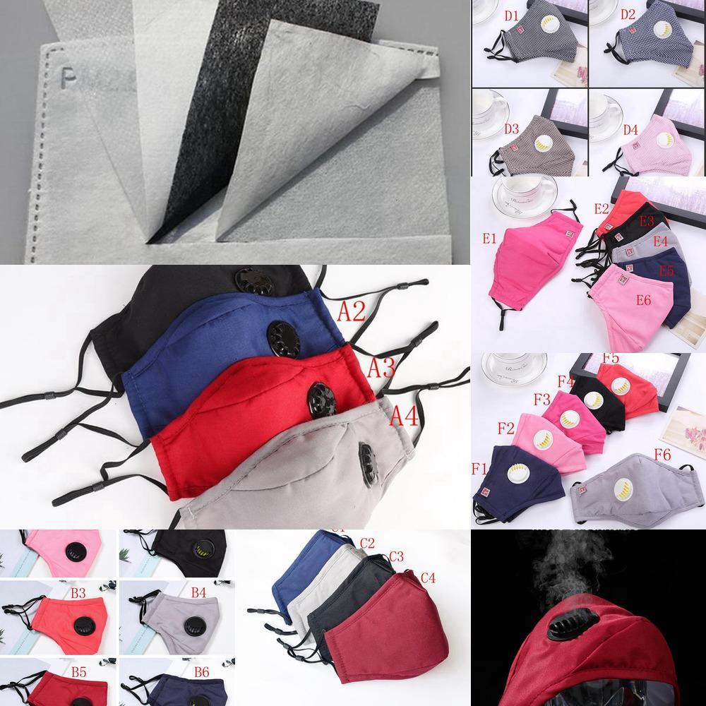Style Multi Extérieur Factory Mask Coton PM2.5 Adulte avec couvercle de visage de la bouche de soupape réutilisable Masques anti-poussière lavables DDA259 P8NZH