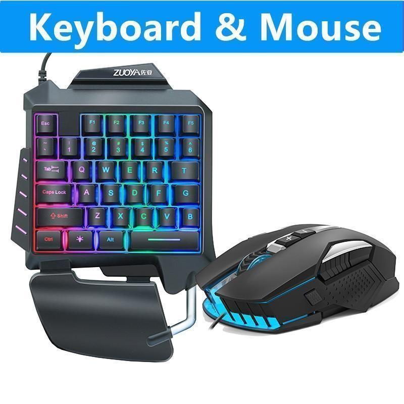 Mouse de jogos + 35 teclas Jogo Membrana teclado combos USB conduzido conduzido retroiluminado para o gamer profissional CS