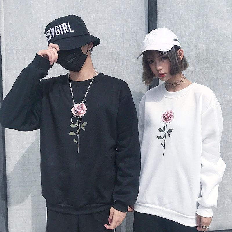 SZF204 # Coreano top abrigo suéter suelto lujoso suéter suéter de moda alumno superior de los hombres y la capa inferior de las mujeres QYD4D