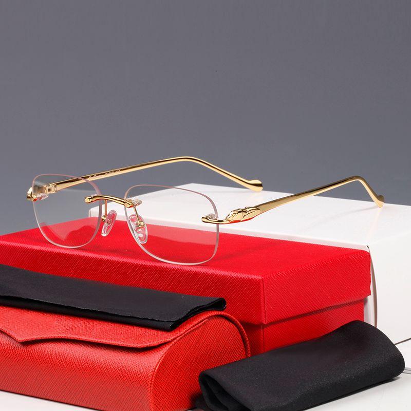 الفهد النظارات الشمسية الكلاسيكية ليوبارد سلسلة حية وذكية الأعمال عارضة الرجال والنساء النظارات الشمسية إطار النظارات البصرية نظارات CT0061O