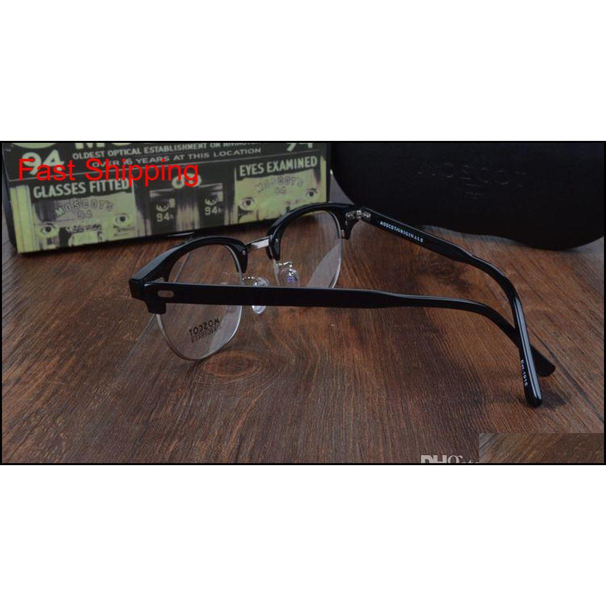 Горячая распродажа-2017 Новый прибыл ретро винтажный бренд Mos Yukel Johnny DEPP рецептурные очки Optical Eyeglasses SPE QYLPPD Queen66