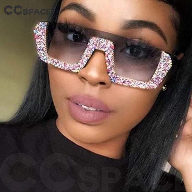 47372 Yarım Çerçeve Elmas Tek Mercek Lüks Güneş Erkekler Kadınlar Moda Shades UV400 Vintage Gözlük