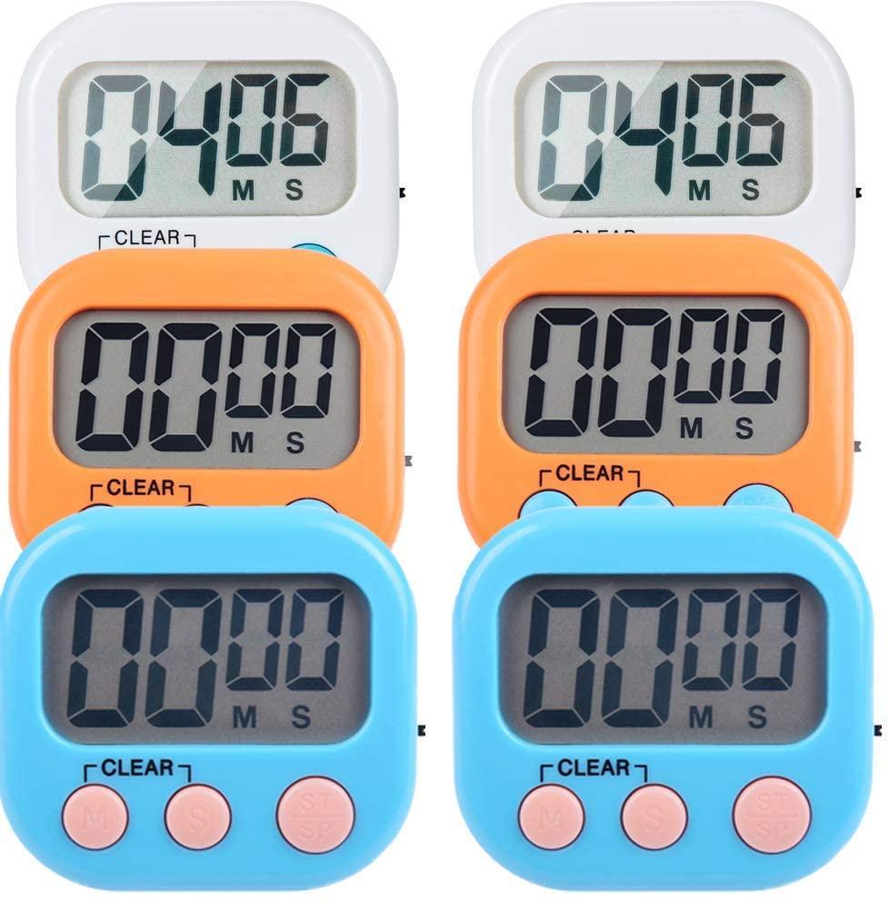 3 цвета Малых цифрового кухонный таймер Magnetic назад и ВКЛ / ВЫКЛ, минута секундного отсчета обратного отсчета