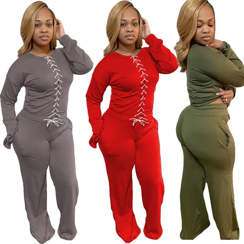 Para mujer trajes de manga larga de 2 pedazos chándal de jogging sportsuit camisa polainas trajes de pantalones de sudadera del juego del deporte H1503 venta caliente