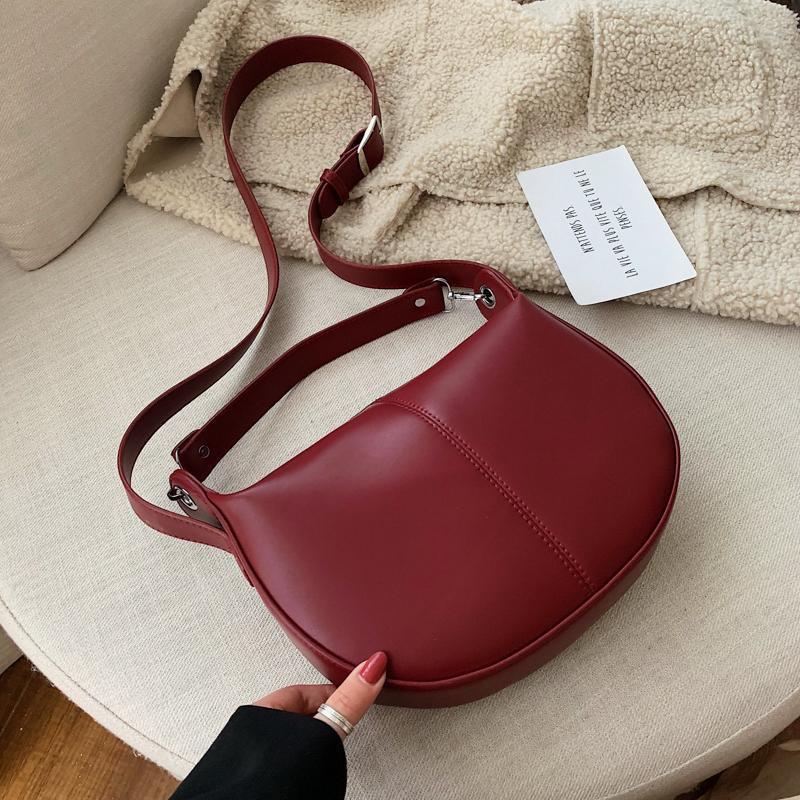 Мода женская сумка сплошной цвет PU кожаные седловые сумки для женщин леди плечо мешок сумка женские туристические сумки и кошельки