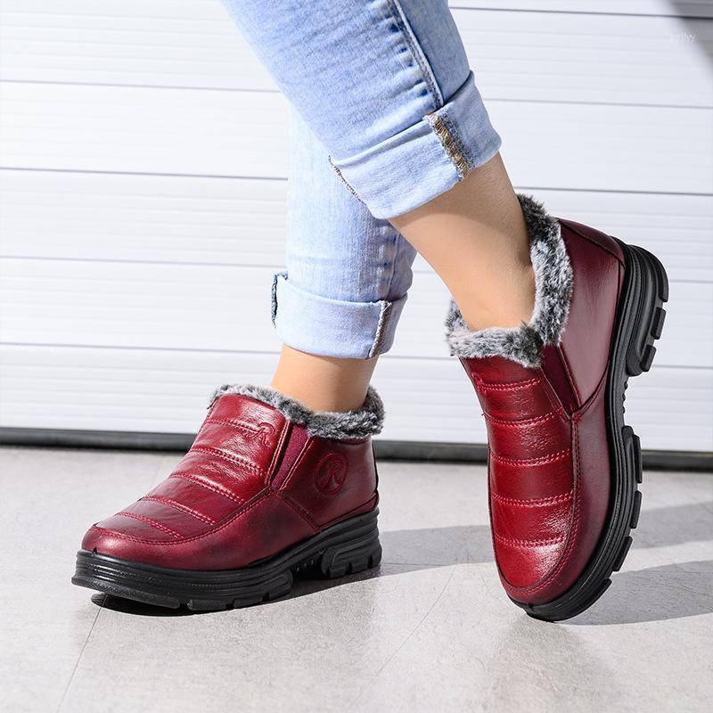 Ботинки зимний снег женская плоская обувь женская женщина ботас с мехом 2021 для женщин обувь1