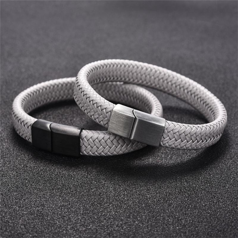 Bracelete de botão de pulseira de pulseira de couro LVB2